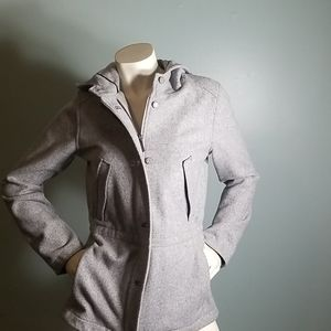 Pendleton Anorak Wool Coat Light Gray